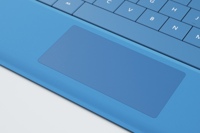 Microsoft Surface Type Cover 3 - touchpad closeup