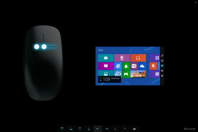 Microsoft Touch Mouse - Gesture tutorial application