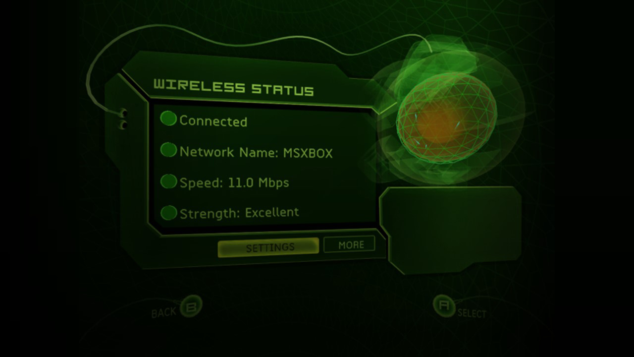XBOX (Original) Wireless Status Screen