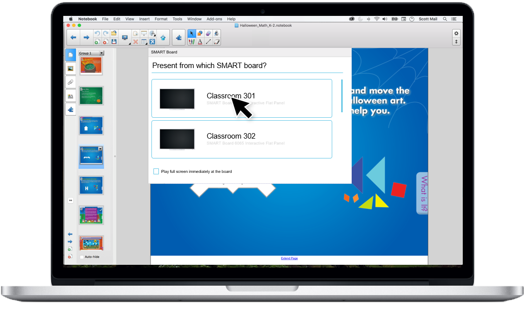 SMART Notebook - Send to Board concept